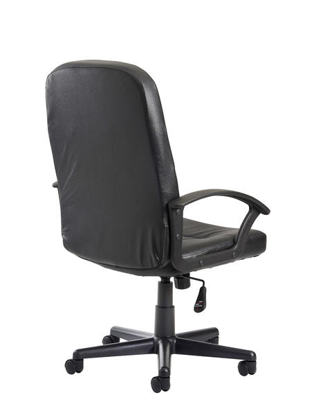 Image of Cavalier high back managers chair - black leather faced