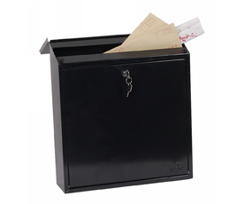 Phoenix Casa MB0111KB Top Loading Mail Box in Black with Key Lock
