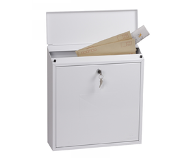 Phoenix Casa MB0111KW Top Loading Mail Box in White with Key Lock