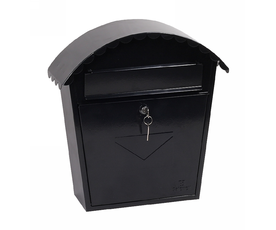 Phoenix Clasico MB0117KB Front Loading Mail Box in Black with Key Lock