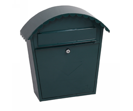 Phoenix Clasico MB0117KG Front Loading Mail Box in Green with Key Lock