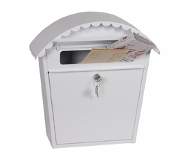 Phoenix Clasico MB0117KW Front Loading Mail Box in White with Key Lock