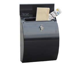 Phoenix Curvo MB0112KB Top Loading Mail Box in Black with Key Lock