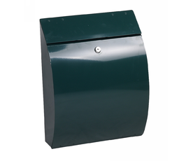 Phoenix Curvo MB0112KG Top Loading Mail Box in Green with Key Lock