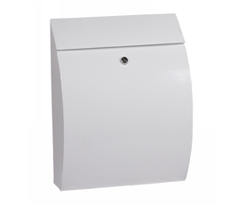 Phoenix Curvo MB0112KW Top Loading Mail Box in White with Key Lock