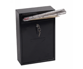 Phoenix Letra MB0116KB Front Loading Mail Box in Black with Key Lock