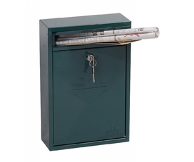 Phoenix Letra MB0116KG Front Loading Mail Box in Green with Key Lock