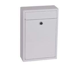 Phoenix Letra MB0116KW Front Loading Mail Box in White with Key Lock