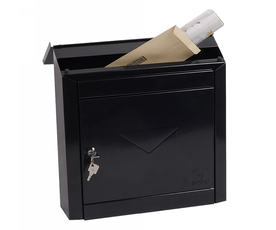 Phoenix Moda MB0113KB Top Loading Mail Box in Black with Key Lock