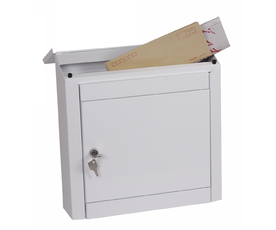 Phoenix Moda MB0113KW Top Loading Mail Box in White with Key Lock