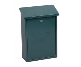 Phoenix Villa MB0114KG Top Loading Mail Box in Green with Key Lock