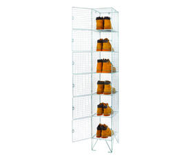 Six door Bright Steel Wire Locker