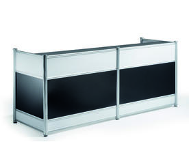 RECEPTION DESK HIGH GLOSS BLACK