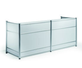 RECEPTION DESK HIGH GLOSS WHITE