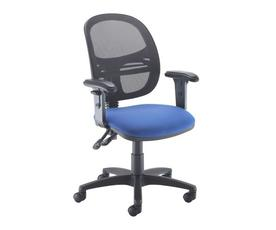 Jota Mesh medium back operators chair with adjustable arms - blue