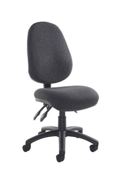 Image of Vantage 200 3 lever asynchro operators chair with no arms - charcoal