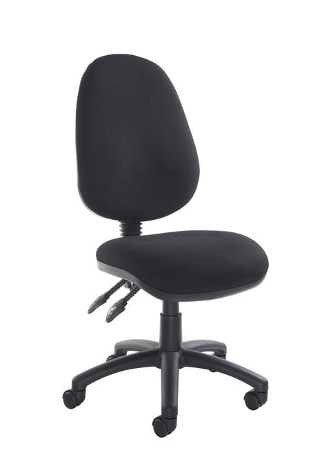 Image of Vantage 100 2 lever PCB operators chair with no arms - black