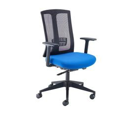 Ronan mesh back operators chair with fixed arms - black